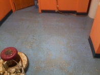 Floor Stripping (before)